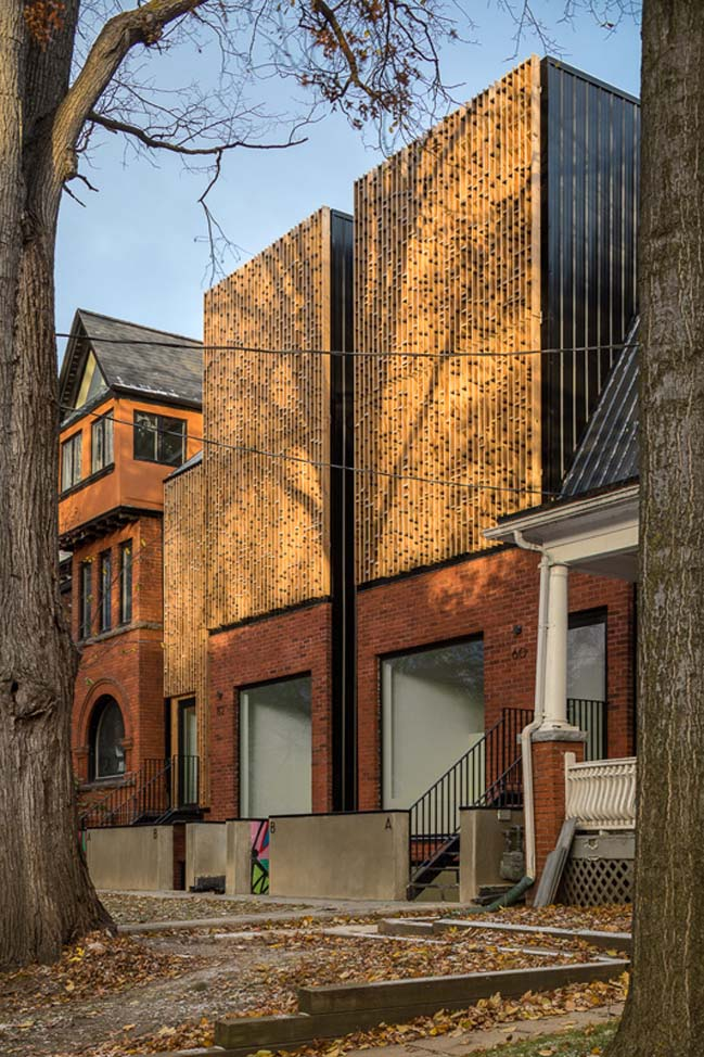 4 storey detached duplex  house in Toronto by Batay-Csorba Architects