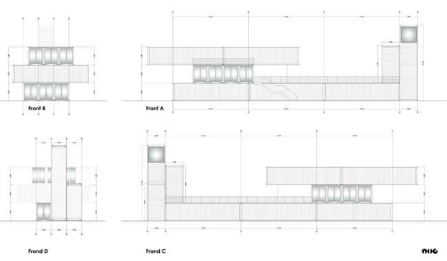 Temporary museum using container in Tunisia by Architects In Rome