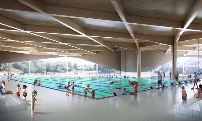 The new aquatic centre in Sweden by 3XN