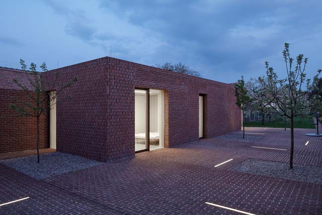 Brick Garden with Brick House by Jan Proksa