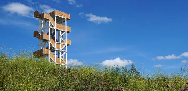 Viewing tower Hoge Bergse Bos by Ateliereen Architecten