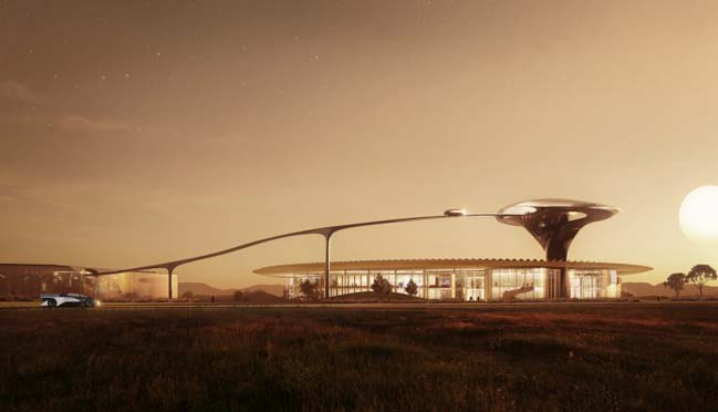 MAD designs futuristic campus for Faraday Future in California