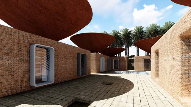 Primary school with concave roof system by BMDESIGN Studio