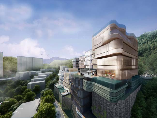 Water-inspired residential building in Hong Kong by Aedas