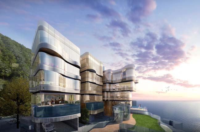 Water-inspired residential building in Hong Kong by Aedas