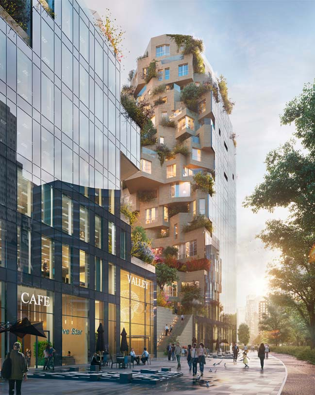 MVRDV's Valley - mixed-use building breaks ground in Amsterdam