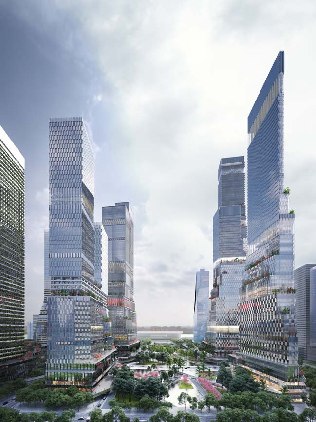 Shenzhen North Station Urban Design by Mecanoo
