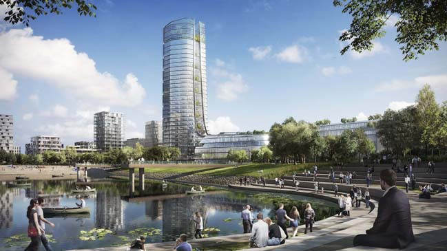 Foster + Partners' new sustainable vision for MOL Campus in Budapest