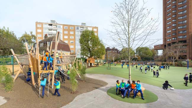 Ashburnham Community School Playground by Foster+Partners