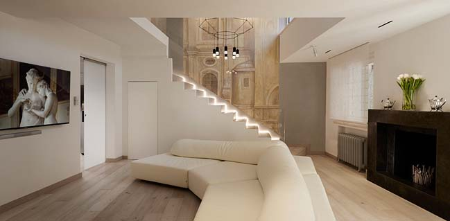 Luxury penthouse in Rome by Carola Vannini Architecture