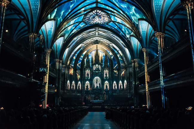 Moment Factory creates a Luminous experience in the heart of Norte-Dame Basilica