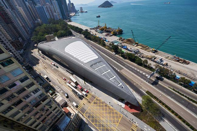 Futuristic new Kennedy Town Swimming Pool in Hong Kong