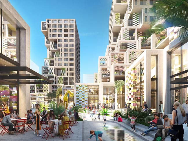 Pixel in abu dhabi by mvrdv for Architectural design companies in abu dhabi