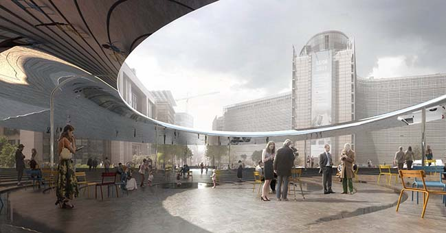COBE and BRUT design the entrance to the European Union