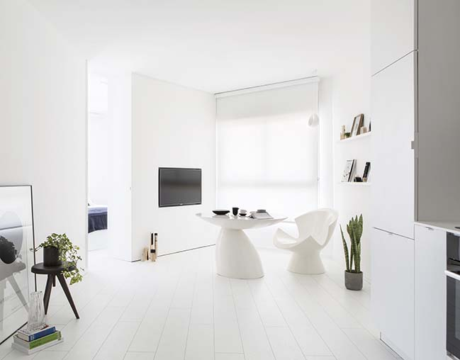 White Apartment by Yael Perry