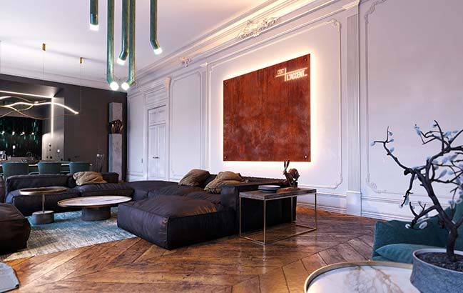 Apartment in Rouen by Dmitriy Grynevich Architects