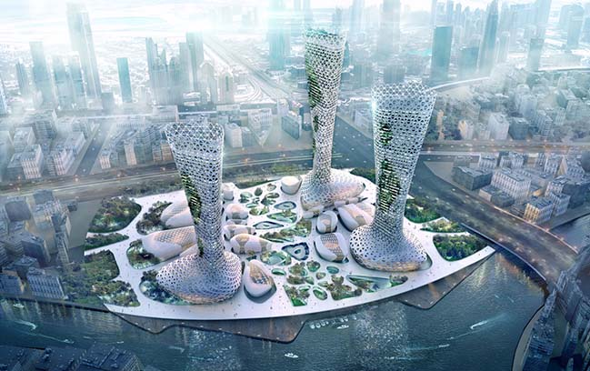 The Symbiotic Towers by AmorphouStudio