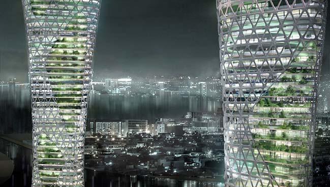 The Symbiotic Towers by AmorphouStudio