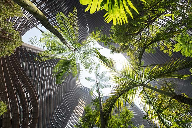 Green Heart Marina One in Singapore by ingenhoven
