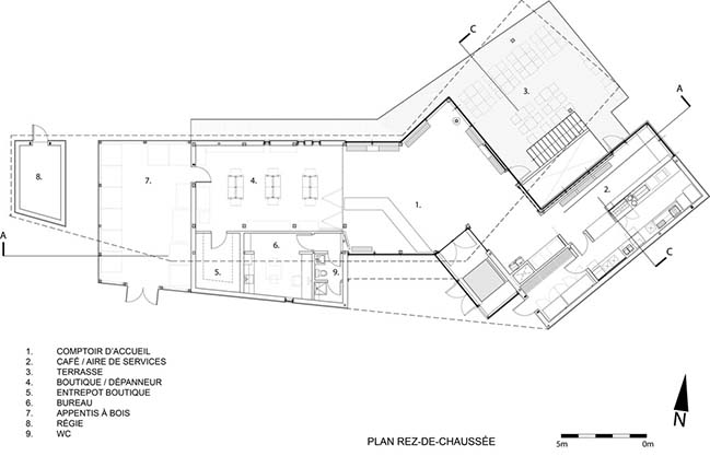 The Centre de Services Le Bonnallie by Anne Carrier architecture