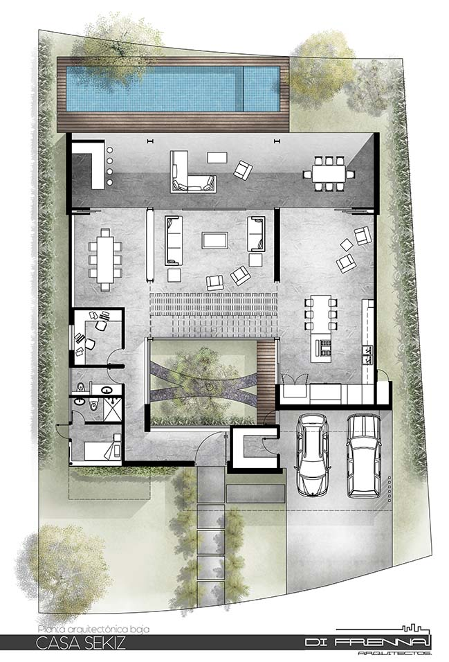 Casa Sekiz in Mexico by Di Frenna Arquitectos