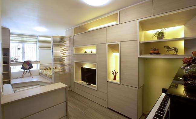 Tiny apartment 324 square feet in Hong Kong by Sim-Plex