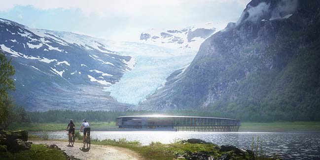 The world's first power-house hotel in Norway by Snøhetta