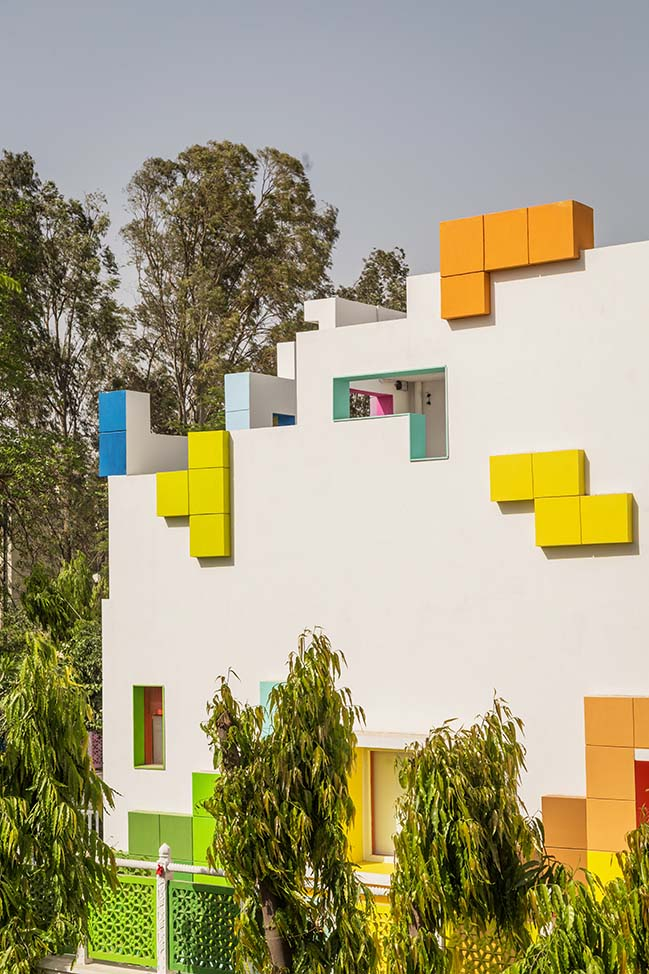The Tetrisception in New Delhi by Renesa Architecture