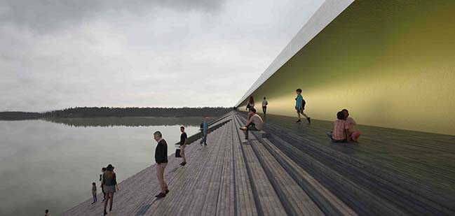 Bridge over Kalix river by Erik Andersson Architects