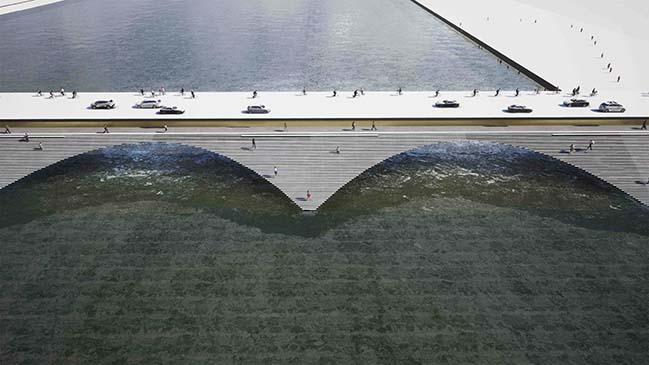 Bridge over Kalix river by Erik Andersson Architects