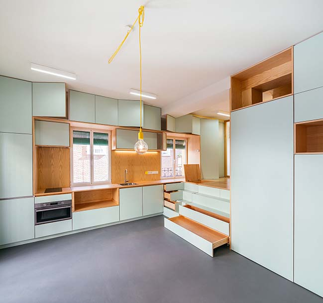 33sqm apartment in Madrid by Elii