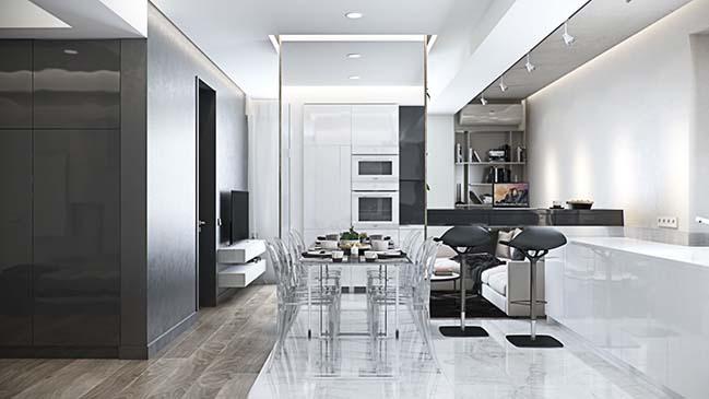 Modern apartment design in Moldova by MUSA Studio