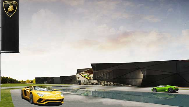 Compound Lamborghini in Bologna by Fabio Novembre Studio