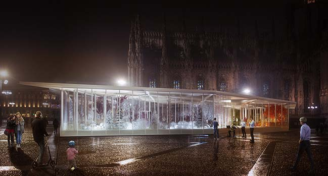Living Nature - A garden pavilion in Milan by Carlo Ratti Associati