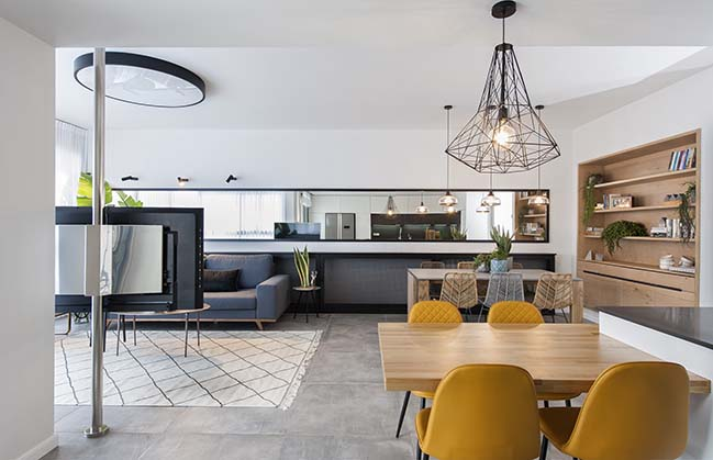 Penthouse in Jerusalem by 1:1 one to one design studio