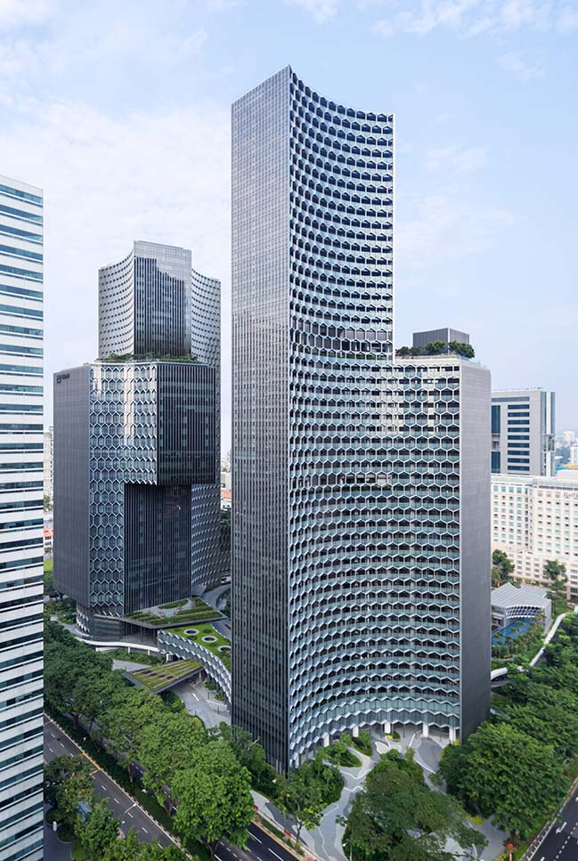 Büro Ole Scheeren Completes DUO Twin Towers in Singapore