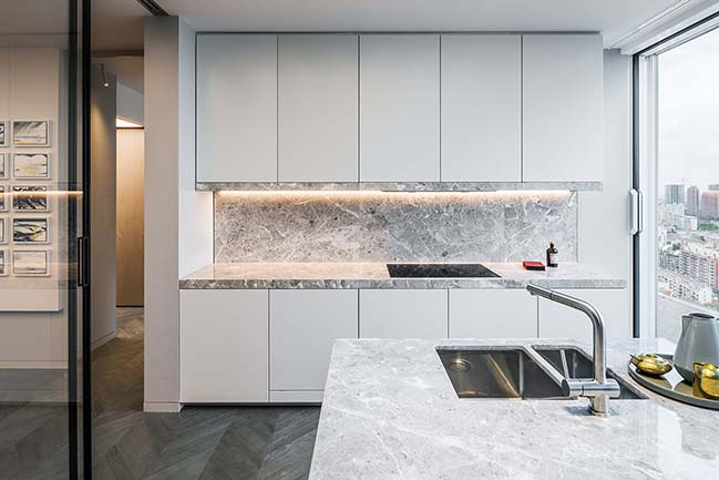 Shades of Grey penthouse apartment in Shanghai by Ippolito Fleitz Group