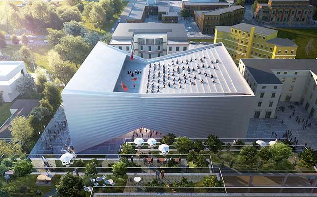 Tirana National Theatre and Masterplan by Bjarke Ingels Group