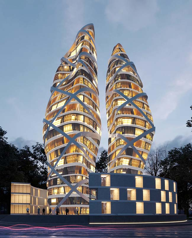 Towers of Love in Toronto by Alva Roy Architects