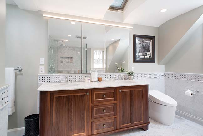 Cottage Street Master Bathroom by Bailow Architects
