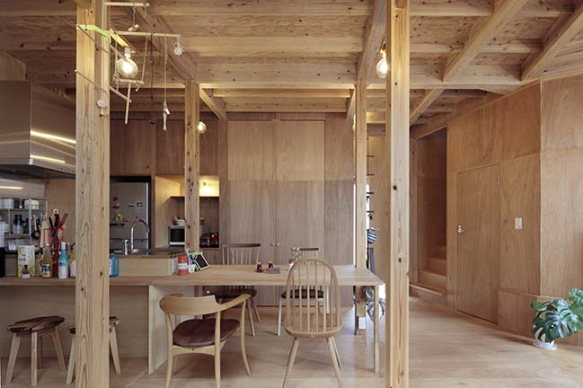 Mushroom House in Kawachinagano by SPACESPACE
