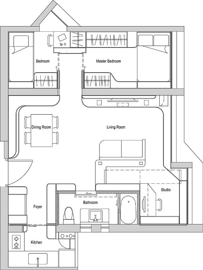 Arc Village Studio by Sim-Plex Design Studio