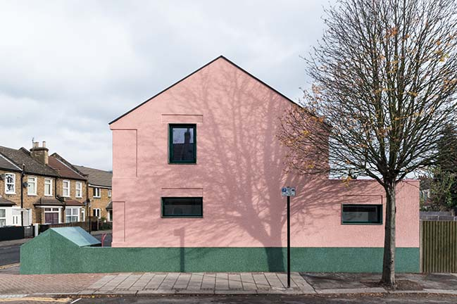 Millennial pink home in Plaistow by Office S&M