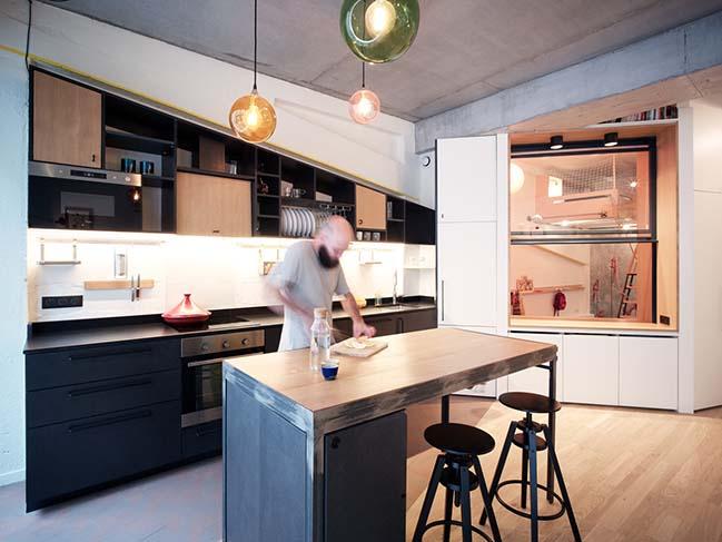 Apartment Paris XVIII by Atelier Pelpell