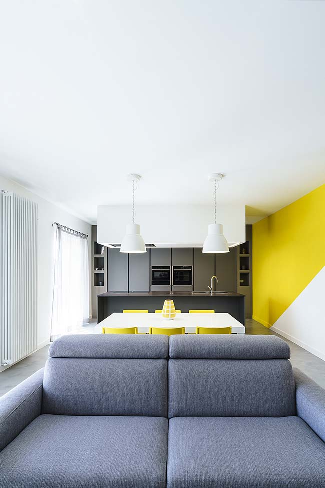Diagonal Apartment in Rome by Brain Factory