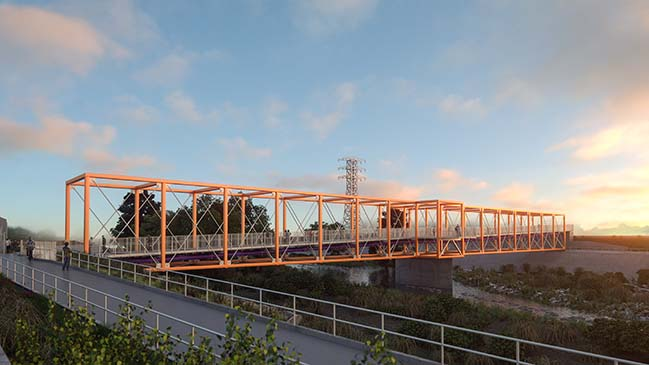 SPF:architects to begin construction on LA River Bridge in July 2018