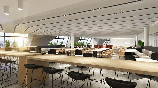 New Spaces for Desjardins at the Montréal Tower by Provencher_Roy