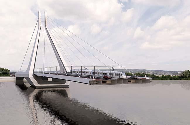 UNStudio wins the competition for the new Budapest Bridge