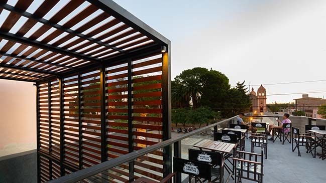 Agostina Gennaro designs a bar in the city of Cruz del Eje
