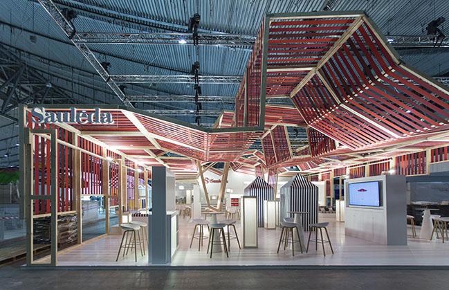 Stand Sauleda in Stuttgart by Dom Arquitectura